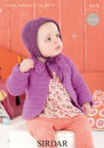 Sirdar Snuggly 4ply - 4478 Cardigan & Bonnet Knitting Pattern